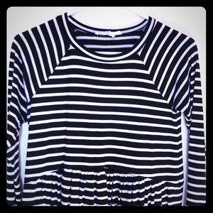 Bcbgeneration striped long sleeve dress